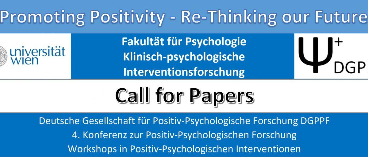 Permalink auf:Call for Papers: 4. DGPPF-Konferenz in Wien